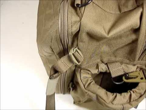 EMDOM - Installing/removing waist belt on EMDOM TNT bag. Sometimes the webbing is stiff when new, but it'll get easier after a few times.