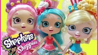 Hello Princesses today I have Shoppies :) These dolls are super adorable !  Jessicake, Poppette, Bubbleisha come with two exclusive Shopkins (Bubba Gum, Bubblicious, Polly Popcorn, Bowl-Inda Popcorn, Coco Cupcake, Cherry Cake), Vip App card, 1 comb, and Shopkins  purse. I am so happy to be back :D Well please enjoy this video! I will posting more great videos!!I hope you enjoy this video !~~~~~~~~~Follow me on~~~~~~~~~~~Facebook: https://www.facebook.com/pages/Fairly...Instagram:https://instagram.com/fairlyevi/Twitter:https://twitter.com/fairlyevi~~~~~~~~~~~~~~~~~~~~~~~~~~Thank you princesses for watching ❤️Remember Dreams do Come True!!_________Videos you will like ___________New Shopkins Go Shopping Card Game by Moose Toys Review https://www.youtube.com/watch?v=K1q-nzx4X5EShopkins Season 3 Food Fair Playset Sweet Treats Exclusive Shopkins Cupcake Collection Playset https://www.youtube.com/watch?v=oCueJtmu-18Opening Shopkins Cool Casual Collection Playset Season 3 Fashion Spree https://www.youtube.com/watch?v=4ATzWnnhreQOpening Shopkins trading cards Deluxe Packs Bullsitoy https://www.youtube.com/watch?v=AHRCwV_GcJ0Shopkins Season 3 Playset Ballet Collection Fashion Spree w/ Exclusive Piano Music Box Toy Unboxing https://www.youtube.com/watch?v=hb8JFrCLCYIShopkins Stacking Challenge!! https://www.youtube.com/watch?v=vvFQZd72neYShopkins Season 3 Mega 20 Pack Opening! https://www.youtube.com/watch?v=BPHCncnueyEALL NEW SHOPKINS - COLLECTOR TRADING CARDS OPENING! By Bulls-i-Toy https://www.youtube.com/watch?v=JHhnPBrhASsSHOPKINS SEASON 3 - Blind Baskets Plus 5 pack Opening https://www.youtube.com/watch?v=x_b5js2OE4EFairly Evi is a SUPER FUN KID FRIENDLY channel for kids of ALL ages to watch! I like to review and open  Princess Dolls,Play Doh, Spongebob, Angry birds, Barbie, My little pony, LEGO, Talking Tom, Kinder surprise eggs with collecting toys inside, Orbeez sets, Cinderella, despicable Me, Minions, Shopkins. PeppaPig Pocoyo Bubble Guppies!!! I love Play Dough, D