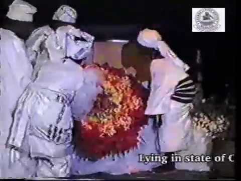 Lying In State Of Chief Hubert Ogunde At The National Art Theatre, Lagos On The 3rd Of May 1990