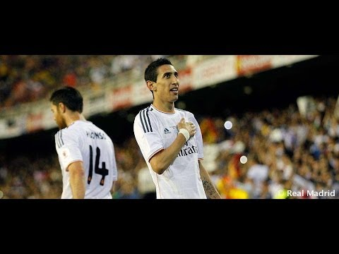Di Mar%C3%ADa%27s goal against Barcelona in the Copa del Rey Final 2014
