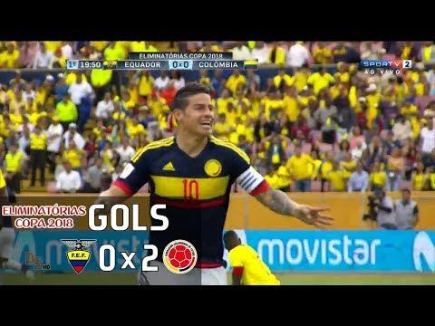 Эквадор - Колумбия 0:2. Видеообзор матча 29.03.2017. Видео голов и опасных моментов игры