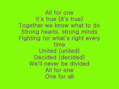 Barbie and The Three Musketeers - All For One w/lyrics