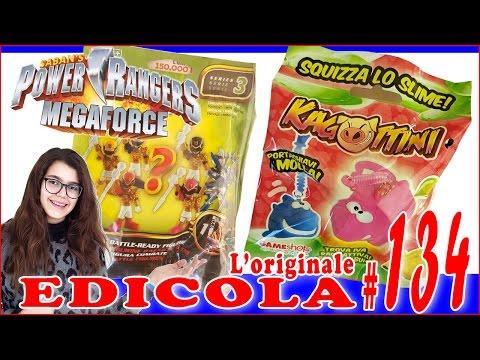 EDICOLA #134: CAGOTTINI Squizza lo SLIME & POWER RANGERS Saban's Megaforce (by Giulia Guerra) (видео)