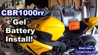 8. CBR1000rr Gel Battery Installation and Review