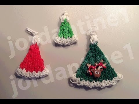 How To Make A Rainbow Loom Christmas Santa Hat Charm – Part 1