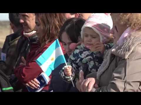 """Jorge Torres y Pablo Carballo, Inauguración del espacio """"Tierra-Mar-Aire"""" en el Memorial Malvinas."""