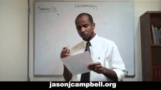 22. Epistemology Lecture Series: Section 1.3