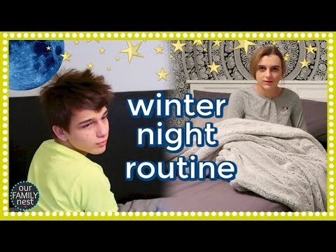 LAZY WINTER NIGHT ROUTINE! WHAT DID THE BOYS GET THEIR VALENTINES? (видео)