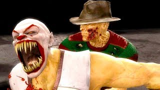Mortal Kombat 9 - All Fatalities & X-Rays on Pennywise Baraka Costume Mod 4K Ultra HD Gameplay Mods