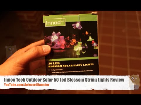 , title : 'Innoo Tech Outdoor Solar 50 Led Blossom String Lights Review'