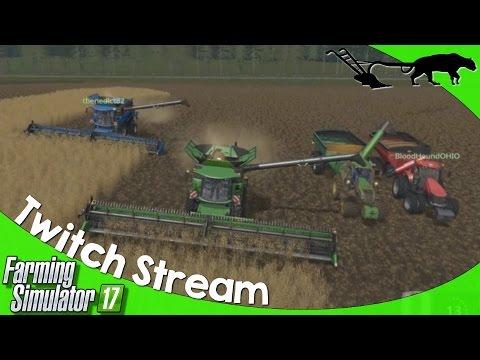 Twitch Livestream: Farming Simulator 17 PC CHERRY HILLS Multiplayer 05/20/2017 P1