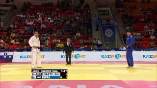 Dong Han Gwak (South Korea) vs Varlam Liparteliani (Georgia) World Judo Championships 2015 - AstanaJudo - 90kg