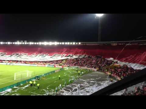 Santa Fe vs Garcilaso - Libertadores 4tos Final. Desde la tribuna - La Guardia Albi Roja Sur - Independiente Santa Fe