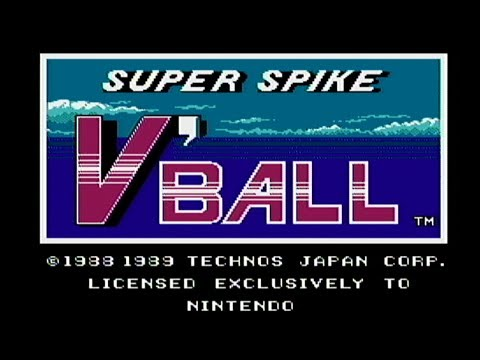 super spike v'ball volleyball nes
