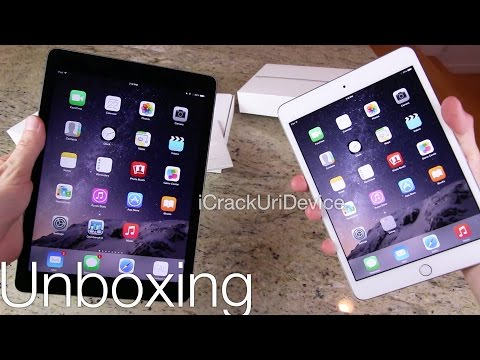 ipads - WATCH FIRST For More iPad Videos, Follow Me On Twitter: http://twitter.com/#!/iCrackUriDevice Unboxing Apple's iPad Air 2 and Mini 3 with Touch ID - Apple's ...