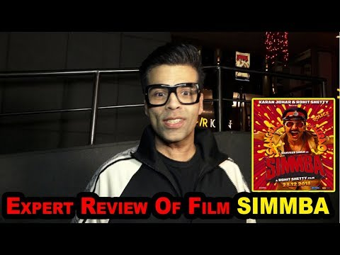 SIMMBA Review By Karan Johar | Ranveer Singh's BEST FILM 2018