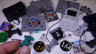 PlayStation History Collection 1 - Takara Tomy 1/6 scale gashapon video game systems!