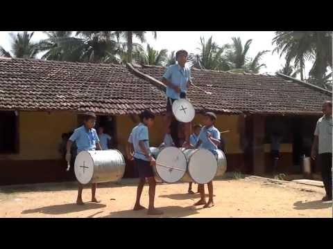 BHADRAVATHI RAYMOND , TALENT OF GOVT HIGHER PRIMARY SCHOOL CHILDREN ON DHOL DRUMS