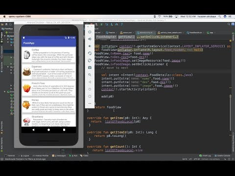 62- Android Food App || ListView design تطبيق عالم الطبخ