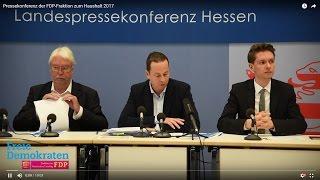 Video zu: Pressekonferenz der FDP-Fraktion zum Haushalt 2017