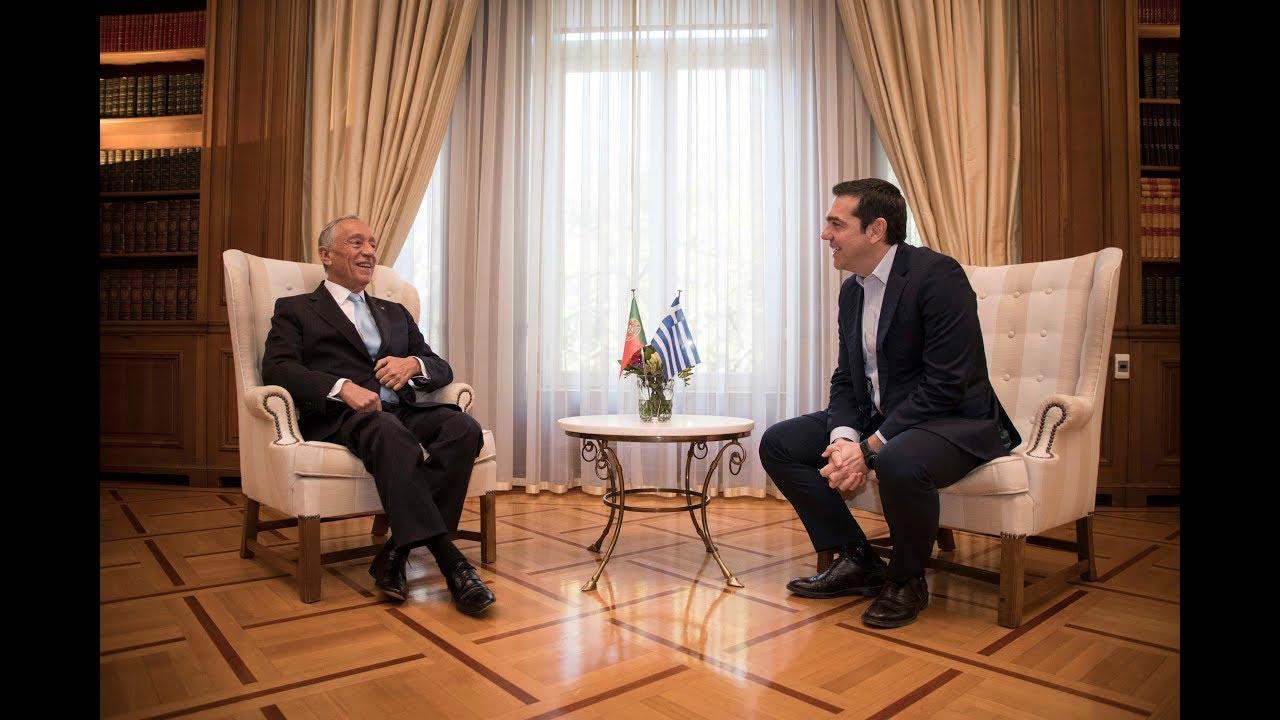Συνάντηση με τον Πρόεδρο της Πορτογαλικής Δημοκρατίας κ. Μ. Ρ. ντε Σόουζα