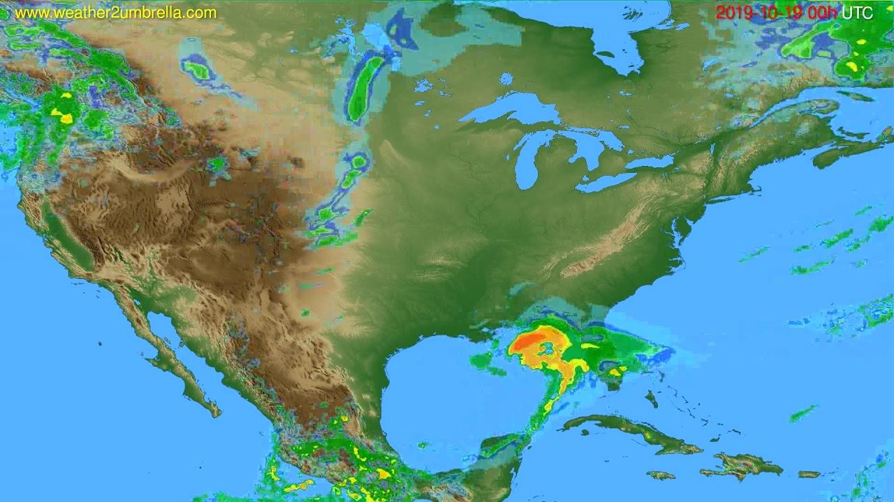 Radar forecast USA & Canada // modelrun: 12h UTC 2019-10-18