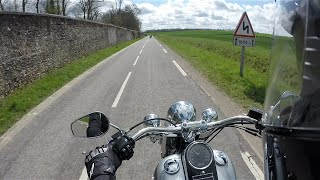 5. Test Riding the Harley Davidson Softail Deluxe FLSTN