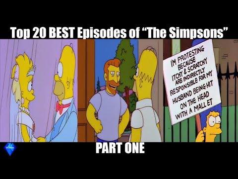 Top 20 BEST Simpsons Episodes (Part 1)