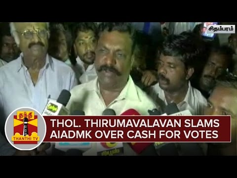 Thol-Thirumavalavan-slams-AIADMK-over-Cash-for-Votes--Thanthi-TV