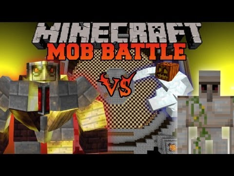 BIG Golem Vs. Iron Golem and Mutant Snow Golem - Minecraft Mob Battles - Mutant Creatures Mod