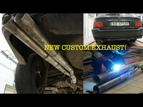 BMW E46 CUSTOM EXHAUST TURBO diesel