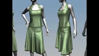 Virtual Fashion design Marvelous designer 3D designs