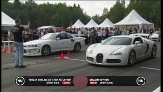 5. Bugatti Veyron vs Nissan Skyline GT-R R34
