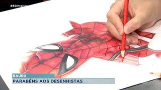 Dia do desenhista: Crianças de Bauru esbanjam talento e aprendem novas técnicas