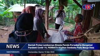 Bentuk Protes Pada Pemda Purwakarta, PB PERMATA Bagikan SembakonPada Warga Desa Terdampak Covid-19 (HARIANSIBER TV)