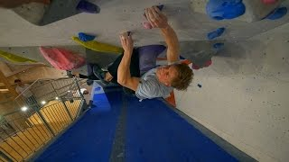 Today the routesetters created new problems in the tunnel and Peter was really psyched to climb on the new problems, he found a purple 7a that has a kneebar crux that he is wrestling with :DSnapchat Eric.boulderingInstagramhttps://www.instagram.com/eric.karlsson.bouldering/https://www.instagram.com/prillan96/https://www.instagram.com/nikkendaniels/Songshttp://www.epidemicsound.com/ES_Cafe Mornings - Andreas JamshereeDriving In The Dark - Andreas JamshereeAcid Waves - CospeEastWest Danceoff - Aldous Young