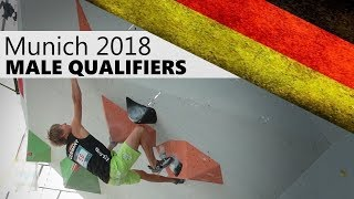 Male Qualifiers | 2018 Munich Bouldering World Cup by OnBouldering