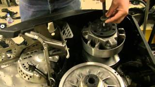 8. SkiDoo Clutch Removal - water trick