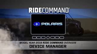 10. Ride Command: Device Manager | Polaris RZR®