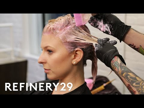 Hair salon - I Bleached My Blonde Hair Rose Pink  Hair Me Out  Refinery29