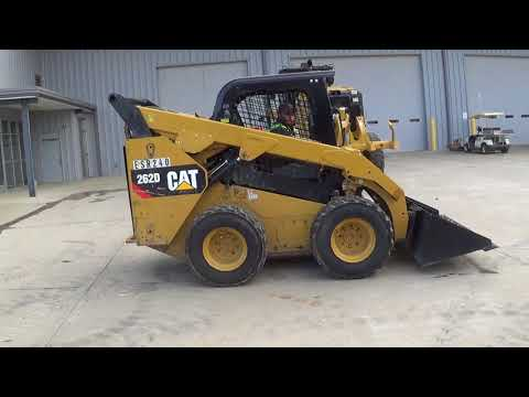 CATERPILLAR MINICARGADORAS 262D equipment video uoSOgrX0SnM