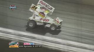 Knoxville Raceway 410 Highlights April 22, 2017