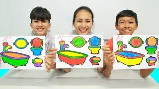 4 bathroom accessories, Warna Warni Belajar Menggambar dan Mewarnai untuk Anak