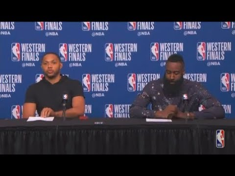 Eric Gordon and James Harden Postgame Interview - Game 5