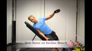 Exercise Index: Side Raise on Incline Bench