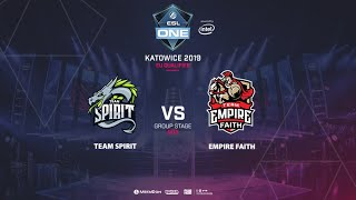 Team Spirit vs Empire Faith, ESL One Katowice, EU Qualifier, bo3, game 3 [Mortalles]