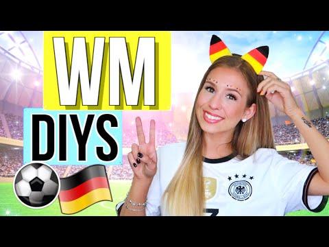 Nageldesign - WM 2018 DIYs Nägel, Haare, Make Up für die Weltmeisterschaft 2018 - DIY