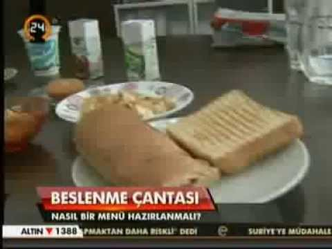 Diyetisyen ve Yaşam Koçu Gizem ŞEBER; 9 Eylül 2013'te Kanal 24 Anahaber Bülteni'nde okul çağındaki çocukların beslenmesinden ve sağlıklı bir beslenme çantasının olmazsa olmazlarından bahsetti.