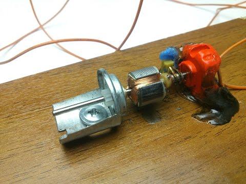 Как работает электромоторчик!)))