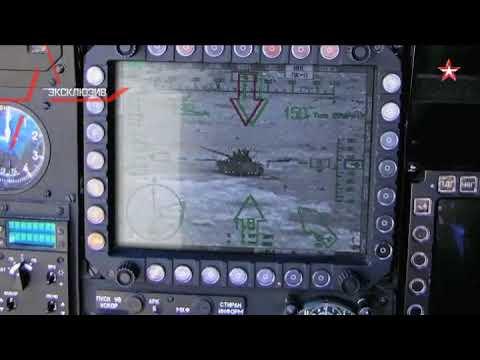 Ми-28Н уничтожает танк ИГИЛ с дистанции в 3 км